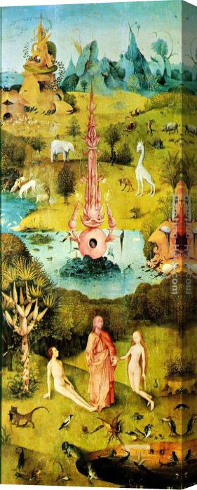 Hieronymus Bosch Garden of Earthly Delights [detail] Stretched Canvas Painting